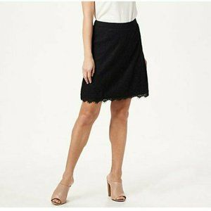 Isaac Mizrahi Live! Knit Lace Pull-On Skort with S